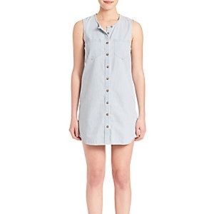 Adriano Goldschmied Ash Sleeveless Chambray Dress